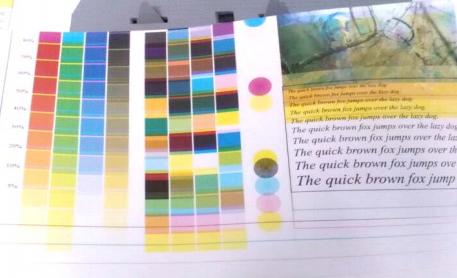 震旦ADC307打印复印显示颜色不正常效果图-科颐
